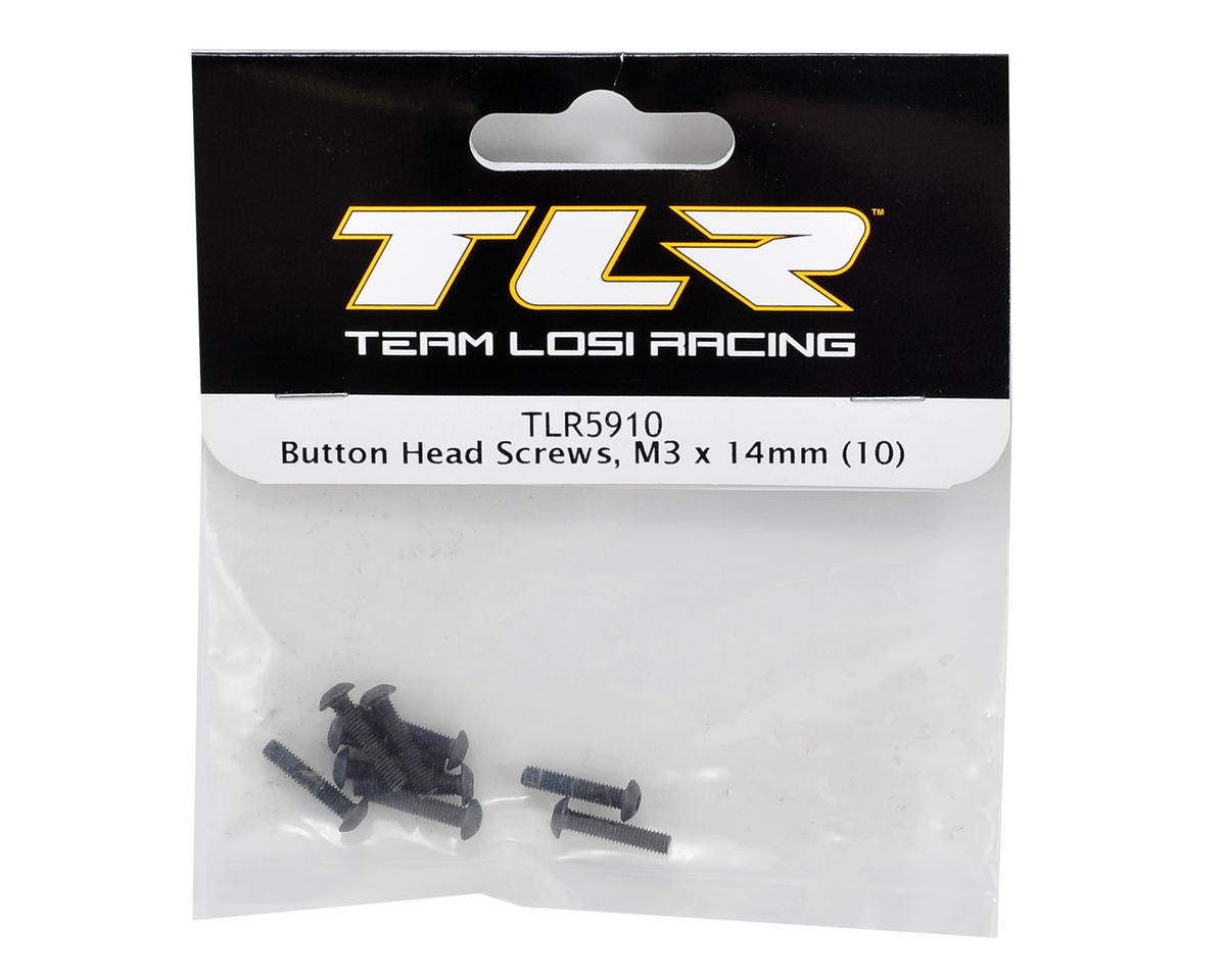 Team Losi Racing 3x14mm Button Head Screw (10)