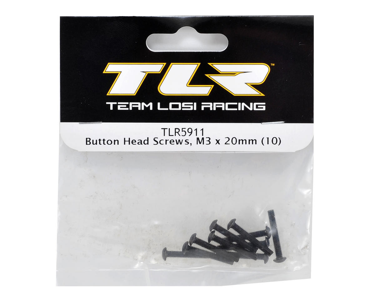 Team Losi Racing M3x20mm Button Head Screws (10)
