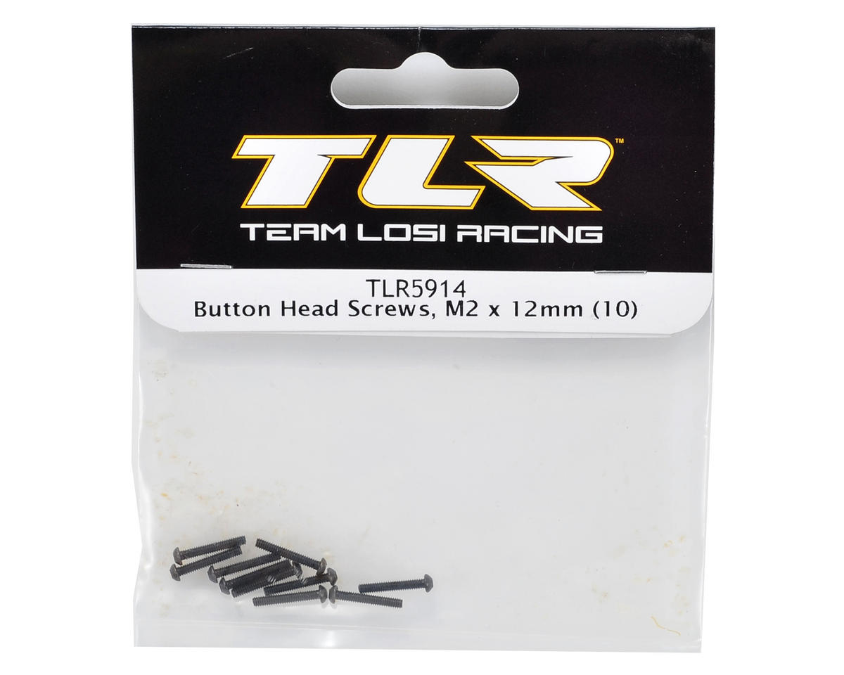 Image 2 for Team Losi Racing M2x12mm Button Head Screws (10)