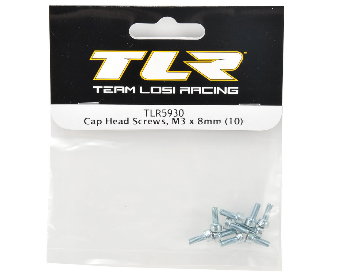 Team Losi Racing 3x8mm Cap Head Screw (10)
