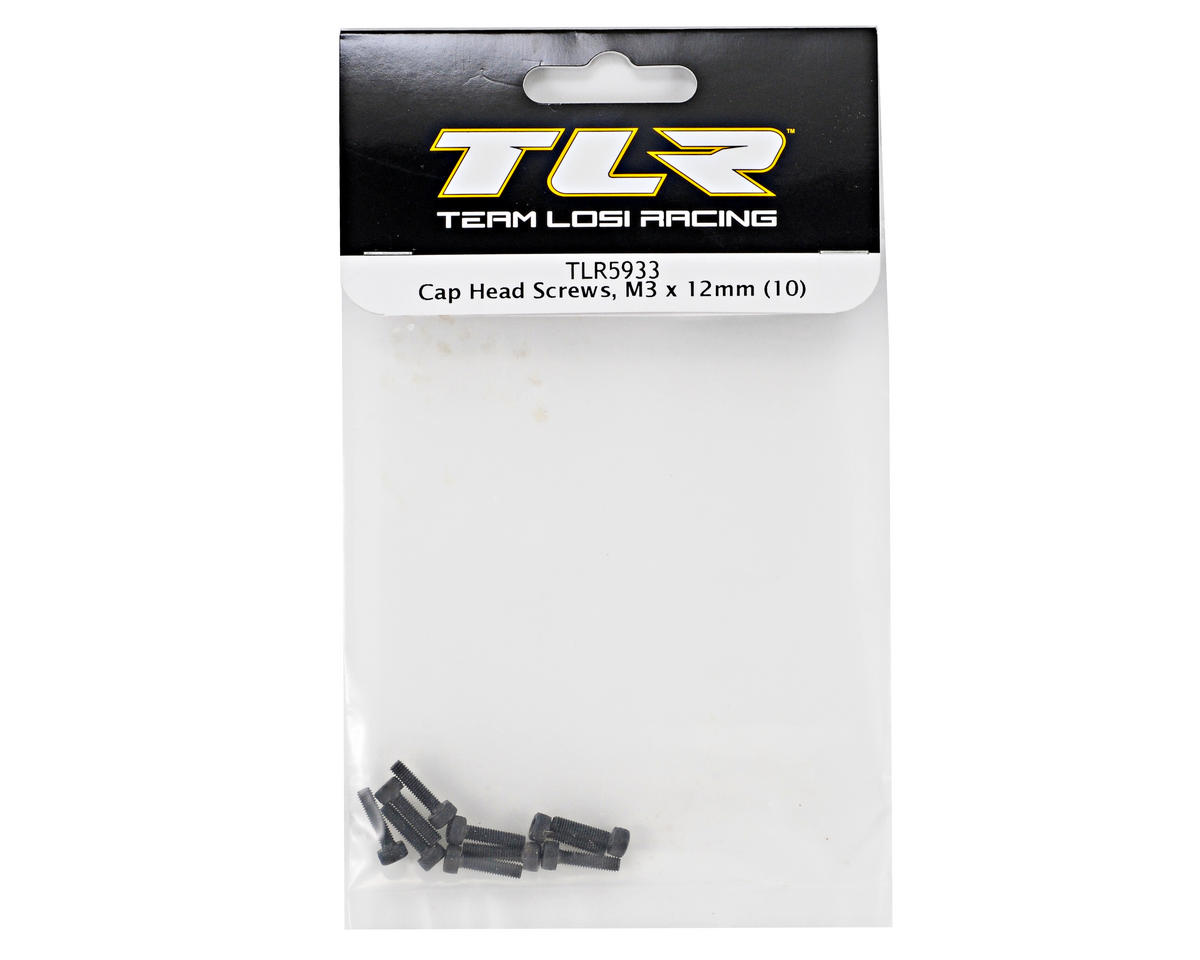 Team Losi Racing 3x12mm Cap Head Screws (10)