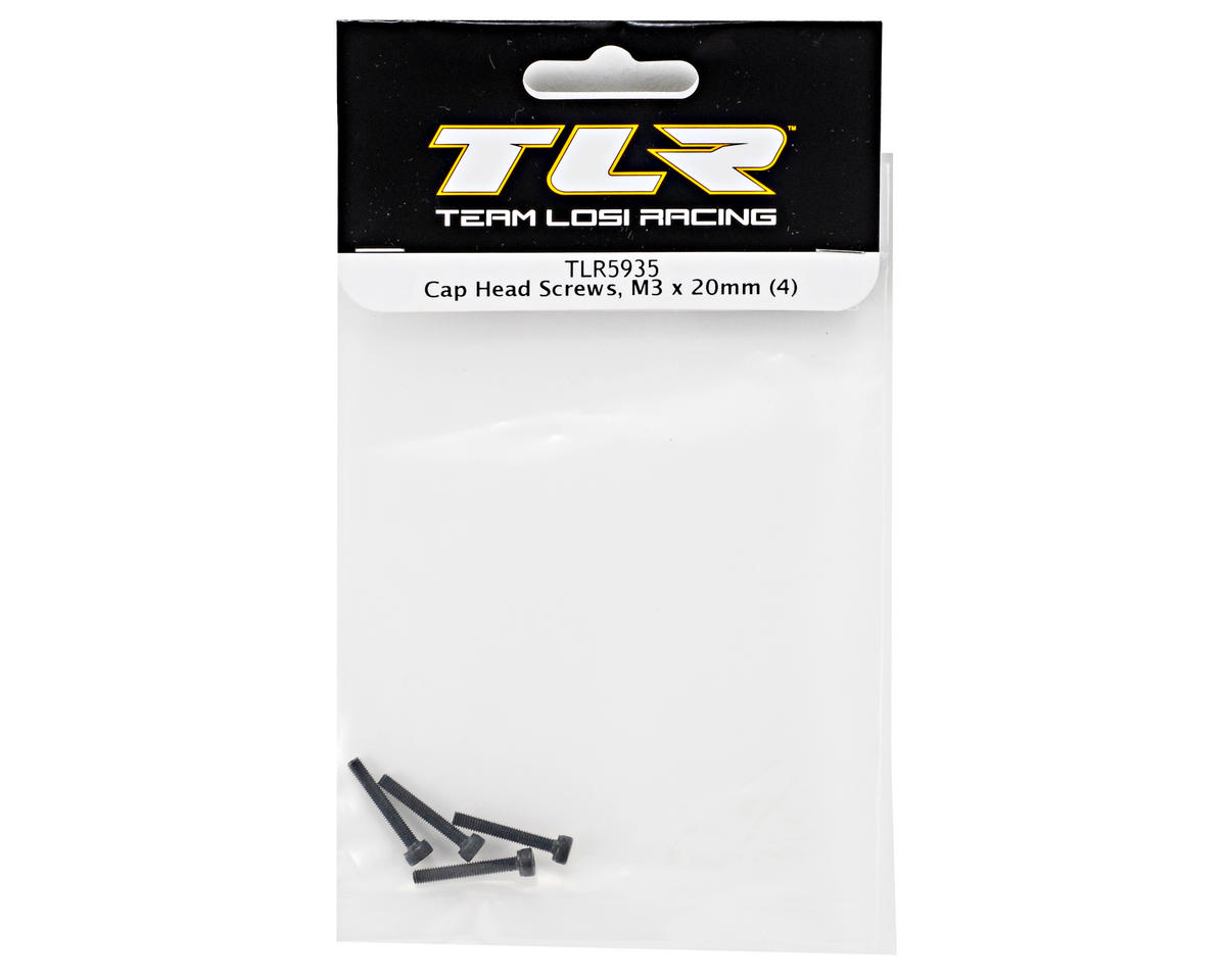 Team Losi Racing 3x20mm Cap Head Screws (4)