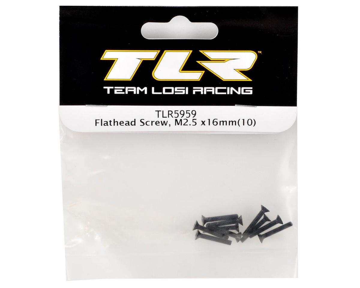 Team Losi Racing 2.5x16mm Flat Head Screw (10)