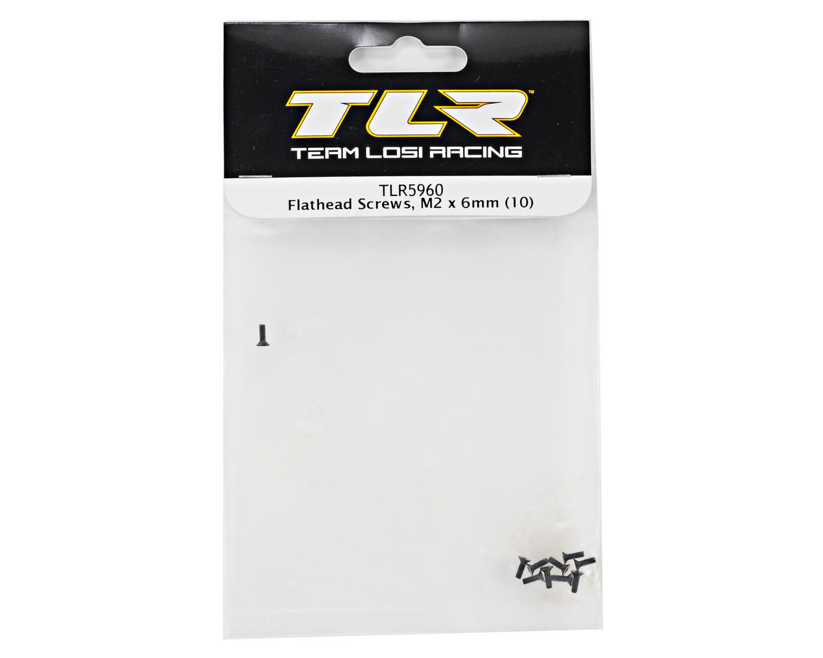 Team Losi Racing 2x6mm Flat Head Screws (10)