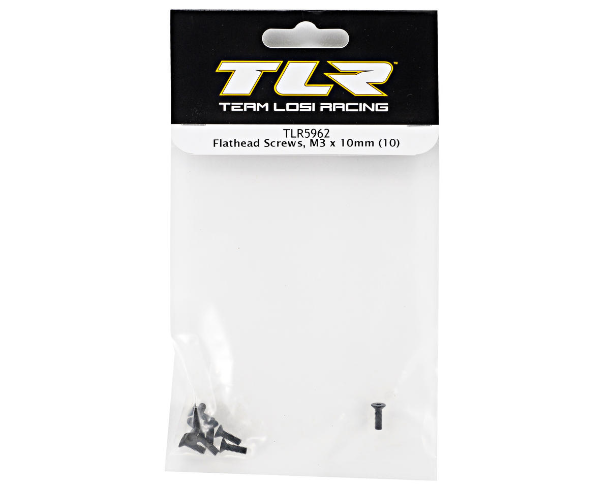 Team Losi Racing 3x10mm Flat Head Screws (10)