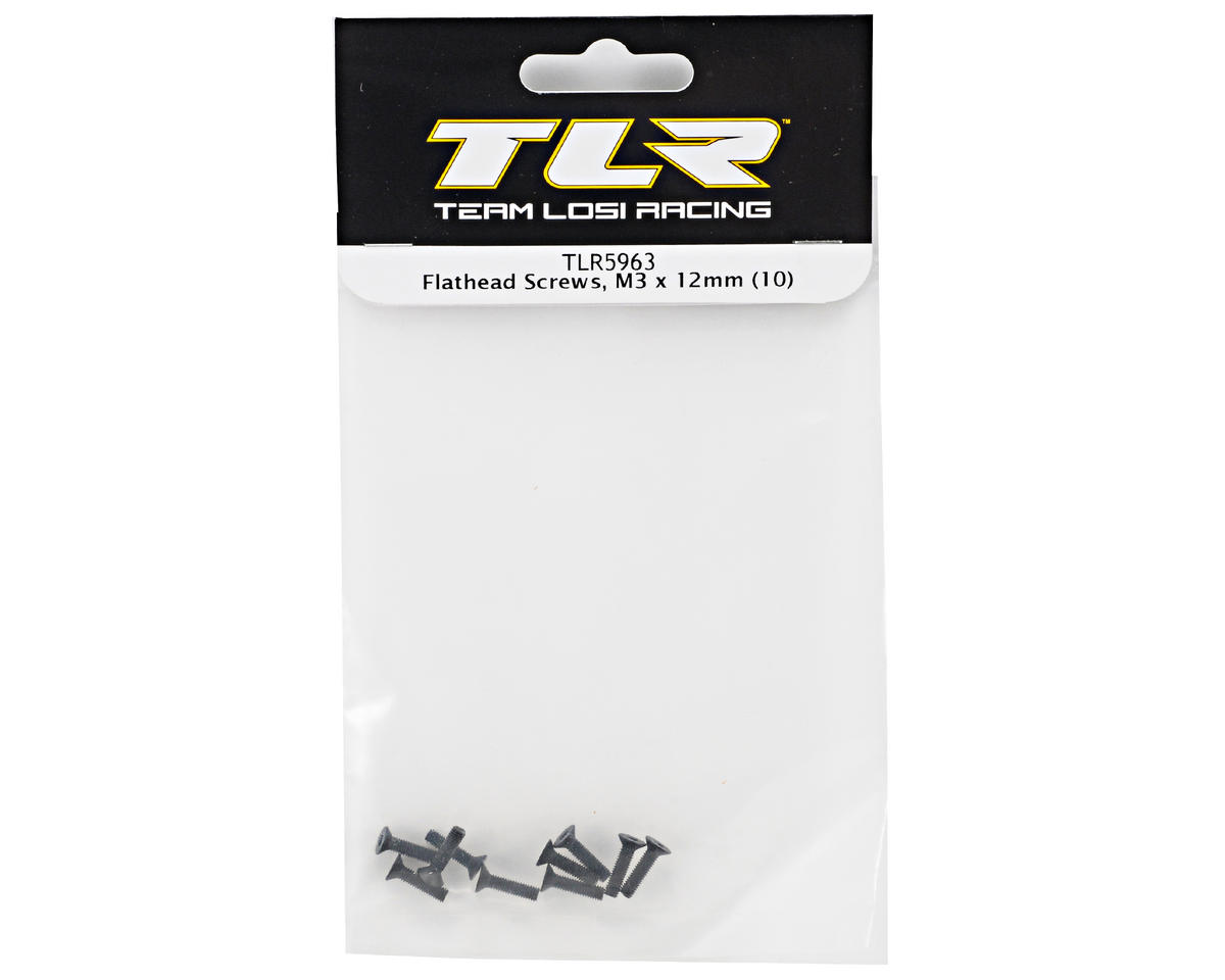 Team Losi Racing 3x12mm Flat Head Screw (10)