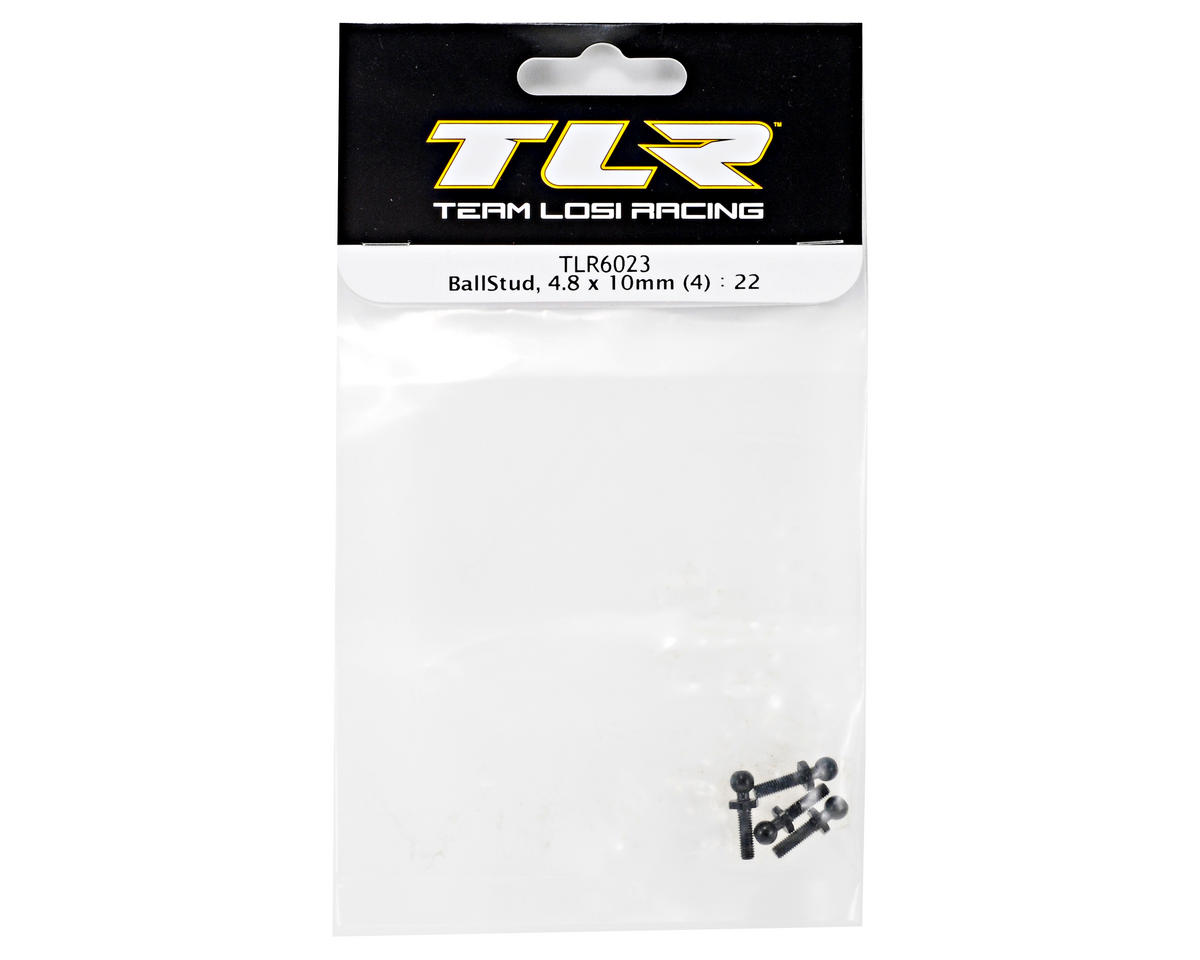 Team Losi Racing 4.8x10mm Ball Stud Set (4) (TLR 22)