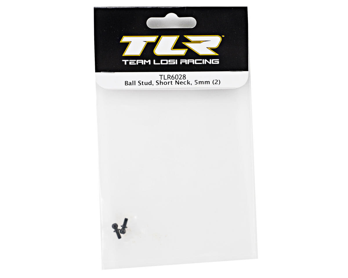 Team Losi Racing 5mm Short Neck Ball Stud Set (2) (TLR 22)