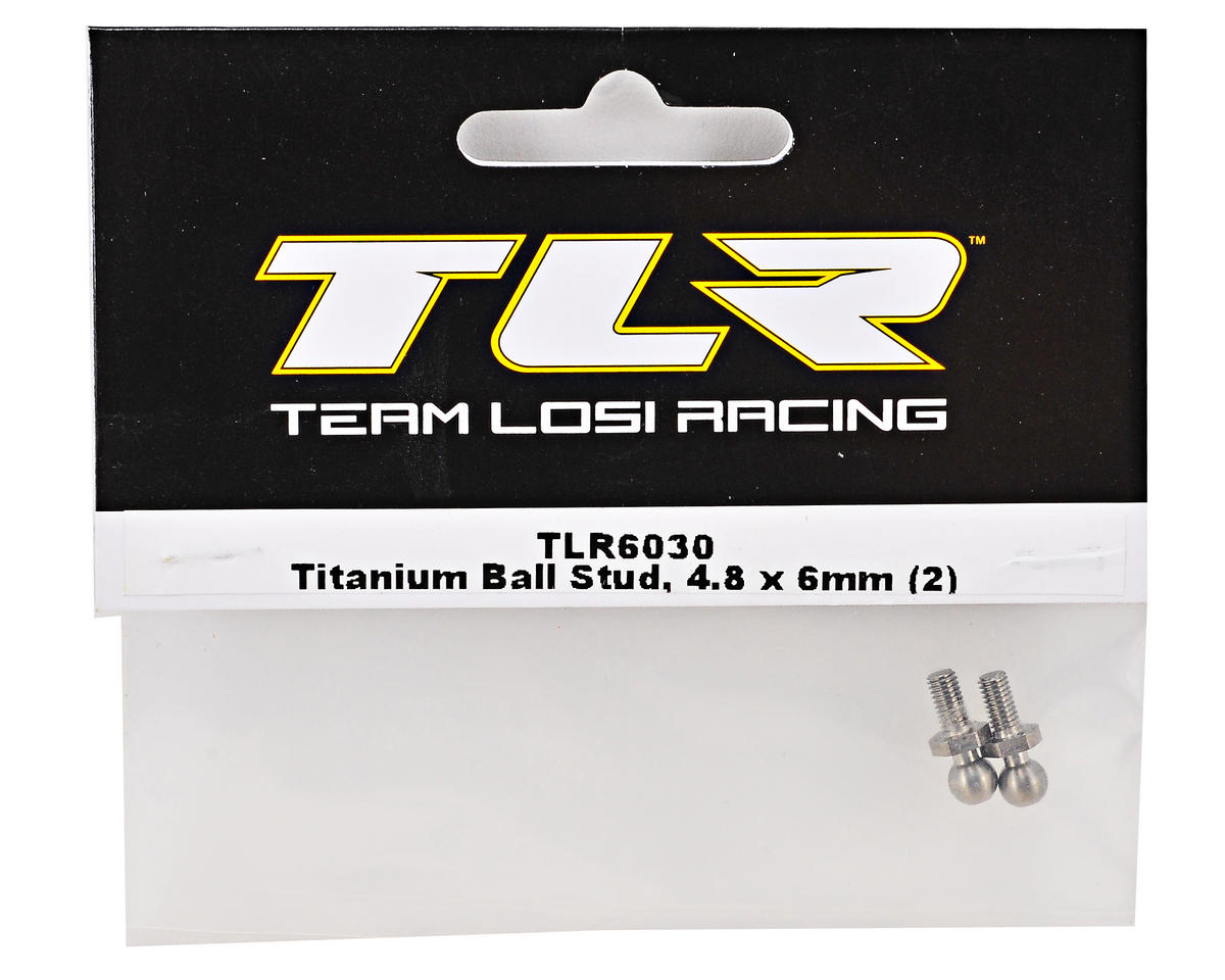 Team Losi Racing 4.8x6mm Titanium Ball Stud Set (2)