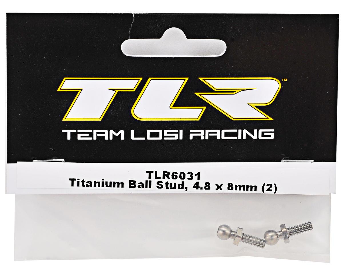 4.8x8mm Titanium Ball Stud Set (2) by Team Losi Racing