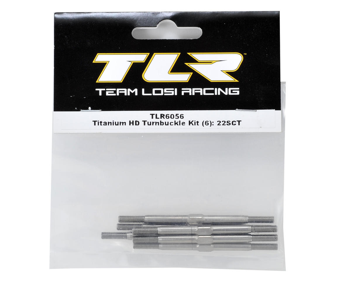 Titanium HD Turnbuckle Kit (6) (22SCT) by Team Losi Racing