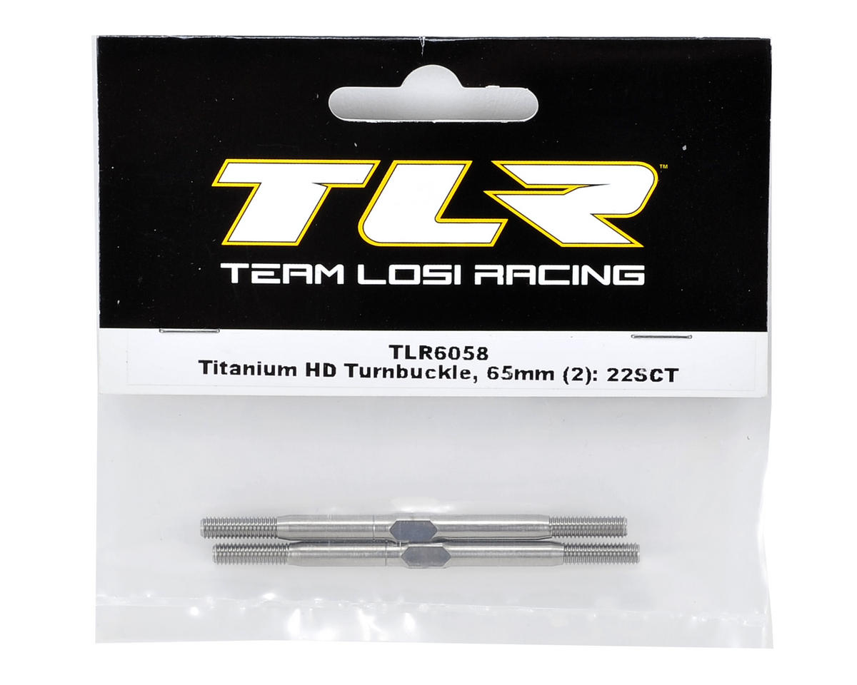 Team Losi Racing 65mm Titanium HD Turnbuckle Set (2)