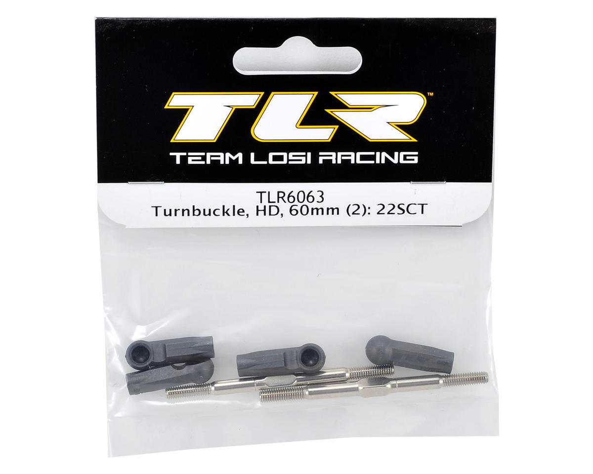 60mm HD Turnbuckle Set (2) by Team Losi Racing