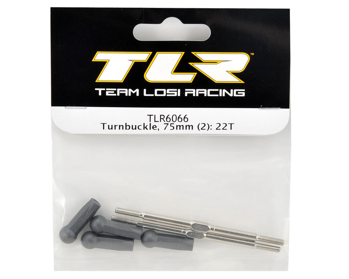 Team Losi Racing 75mm Camber Link Turnbuckle Set (2)