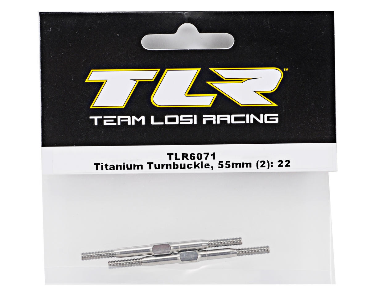 Team Losi Racing 55mm Titanium Turnbuckle Set (2) (TLR 22)