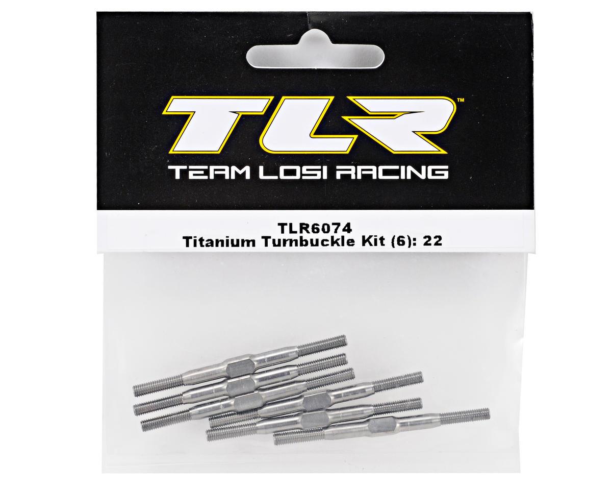 Team Losi Racing Titanium Turnbuckle Kit (6) (TLR 22)