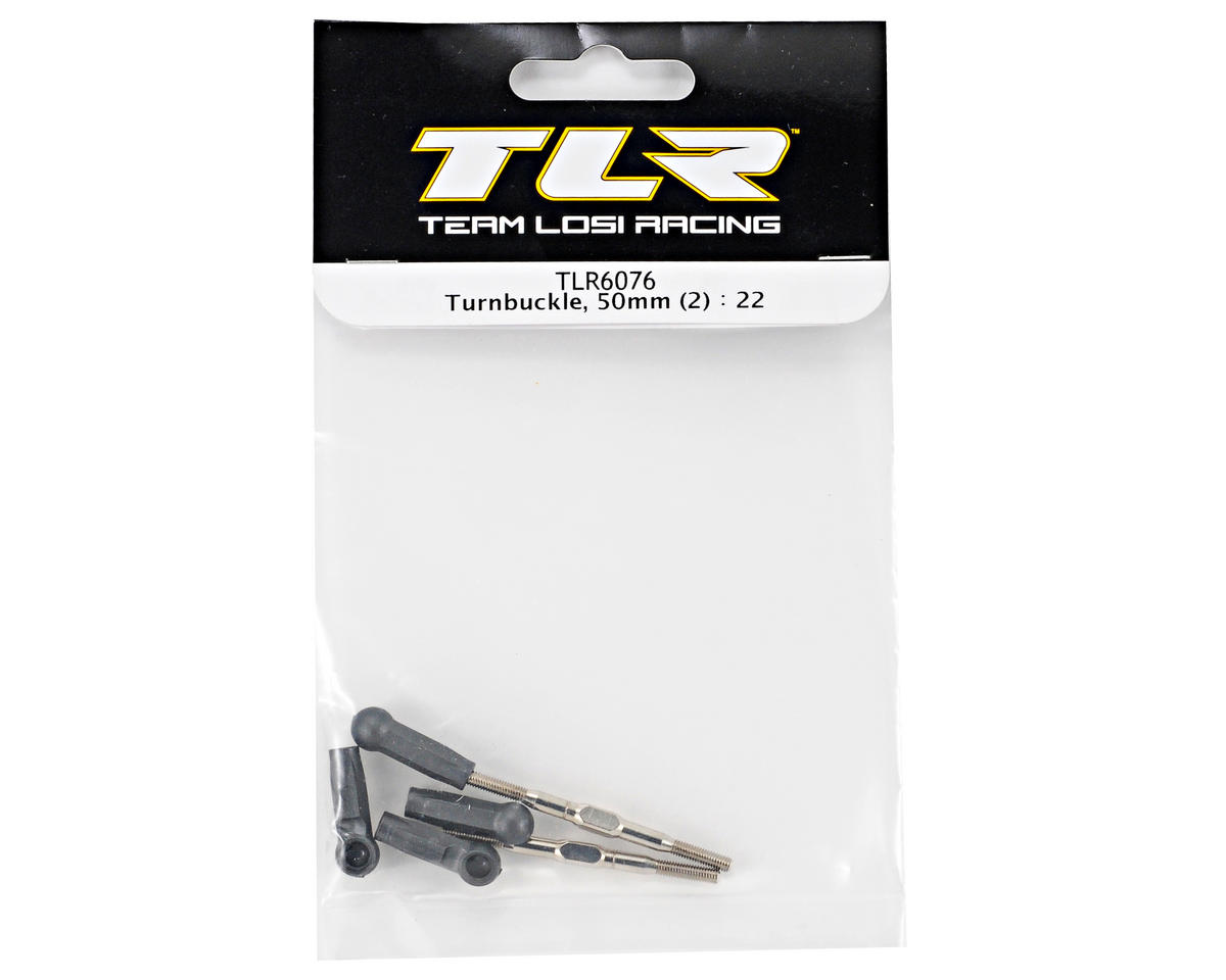 Team Losi Racing 50mm Turnbuckle Set (2) (TLR 22)