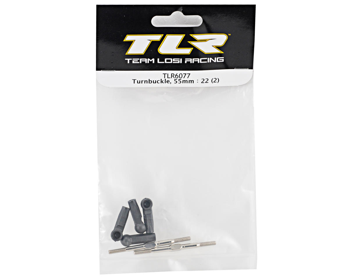 Team Losi Racing 55mm Turnbuckle Set (2) (TLR 22)