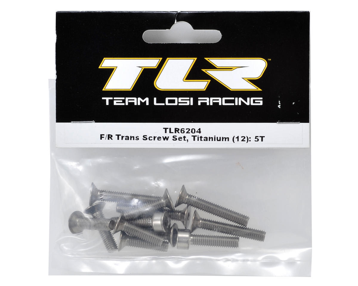 Team Losi Racing Titanium Front/Rear Transmission Screw Set (12)