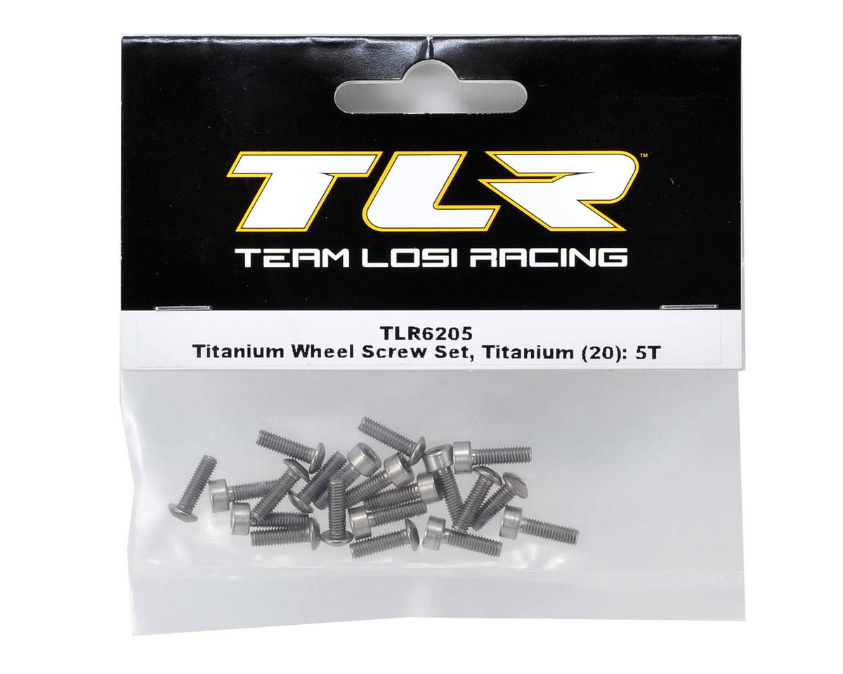 Team Losi Racing Titanium Wheel Screw Set (20)
