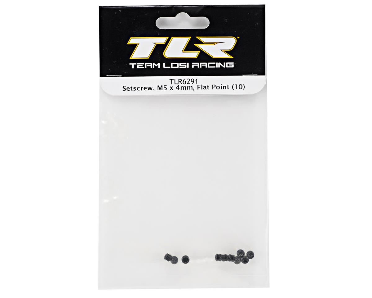 5x4mm Flat Point Set Screw (10) by Team Losi Racing