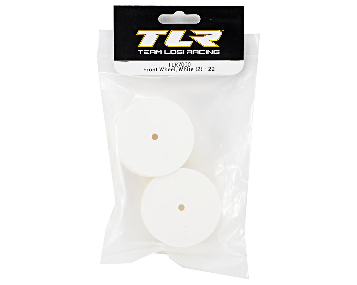 Team Losi Racing 10mm Hex 1/10 Front Buggy Wheels (White) (2) (22)