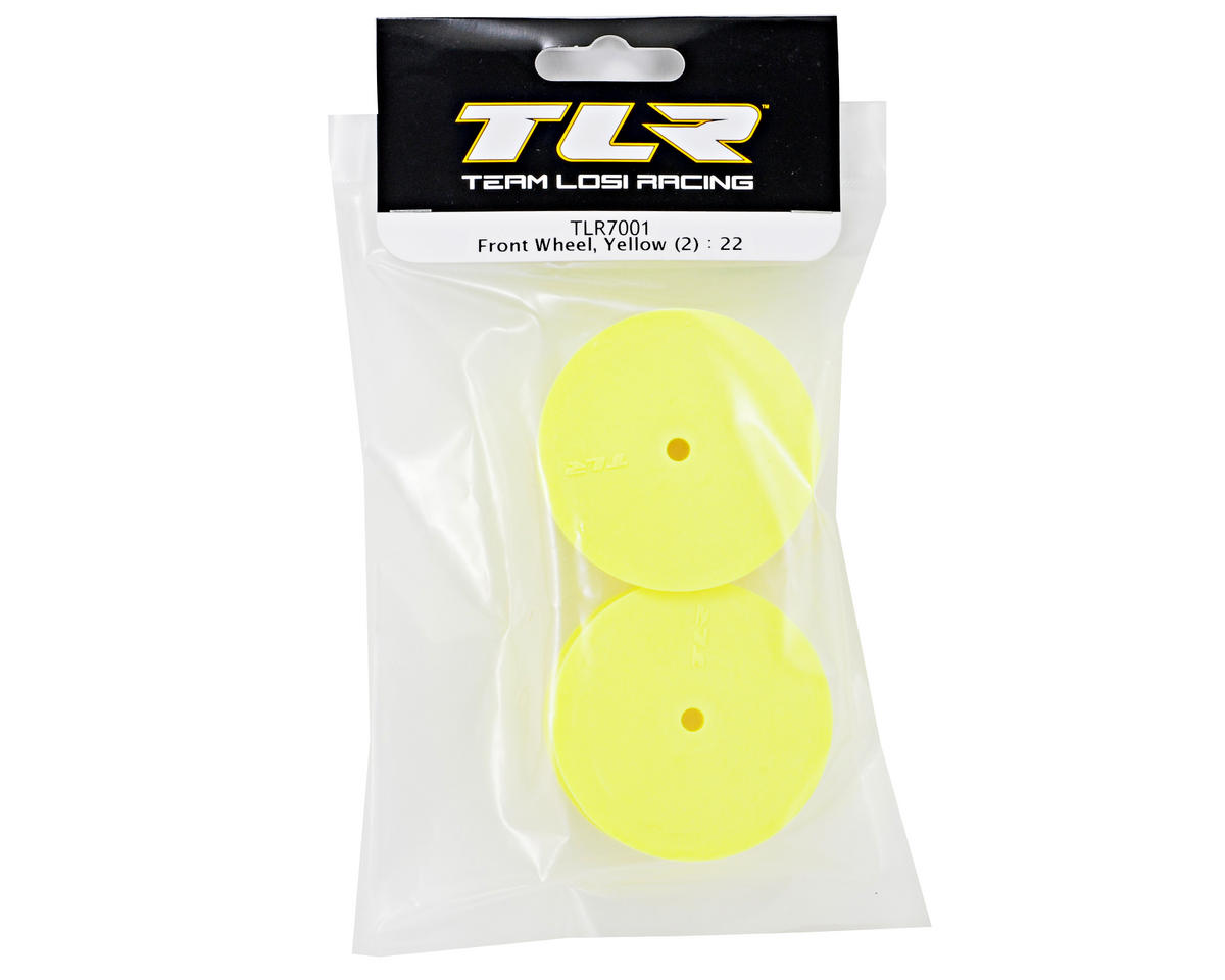 Team Losi Racing 10mm Hex 1/10 Front Buggy Wheels (Yellow) (2) (22)