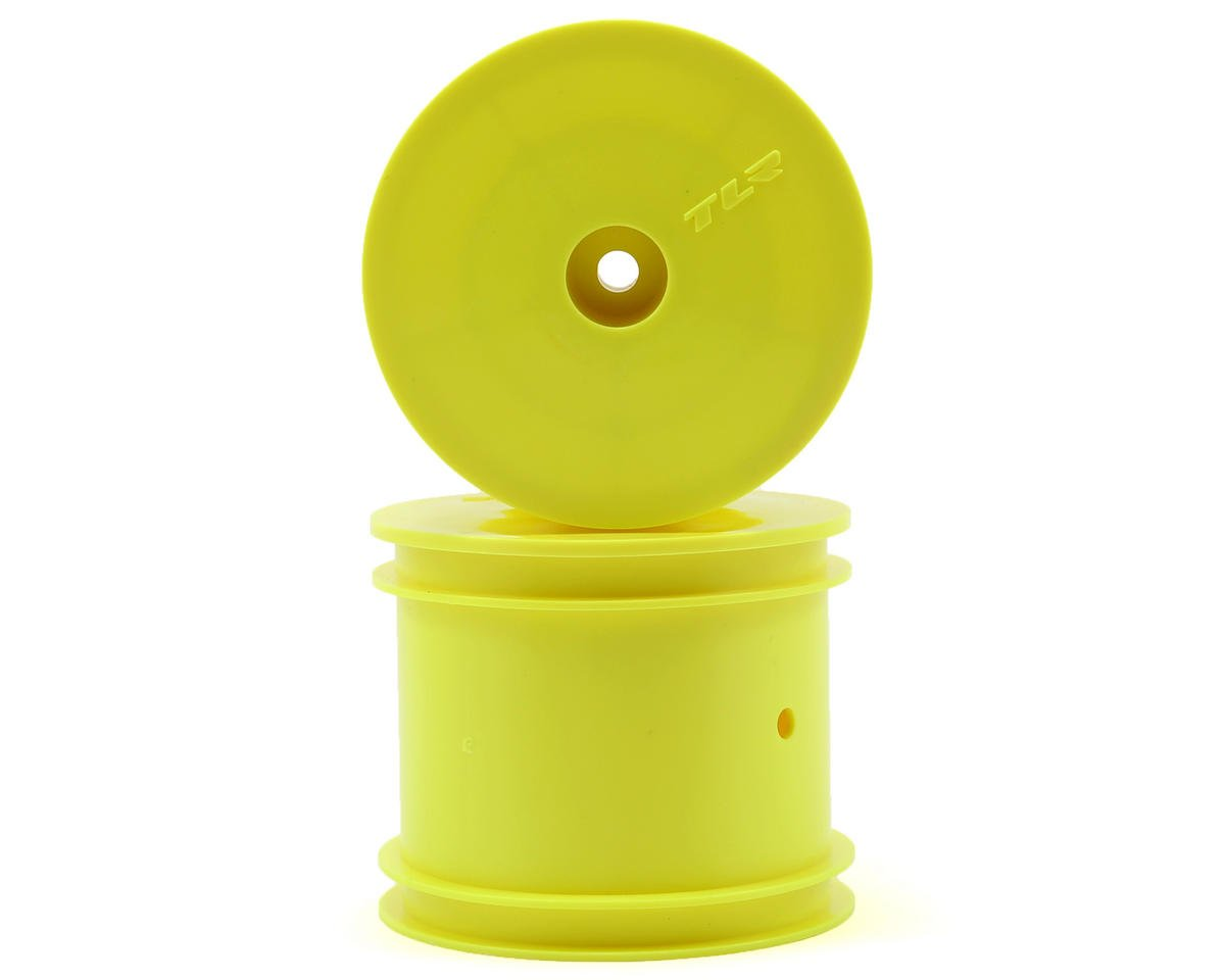 "Team Losi 22T 2.0 Racing 12mm Hex 2.2"" 1/10 Stadium Truck Wheels (2) (TLR 22T) (Yellow)"