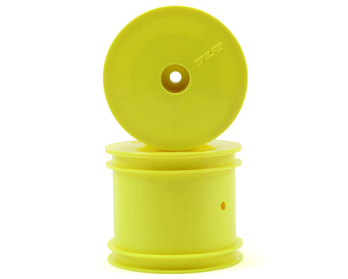 "Team Losi 22T Racing 12mm Hex 2.2"" 1/10 Stadium Truck Wheels (2) (TLR 22T) (Yellow)"