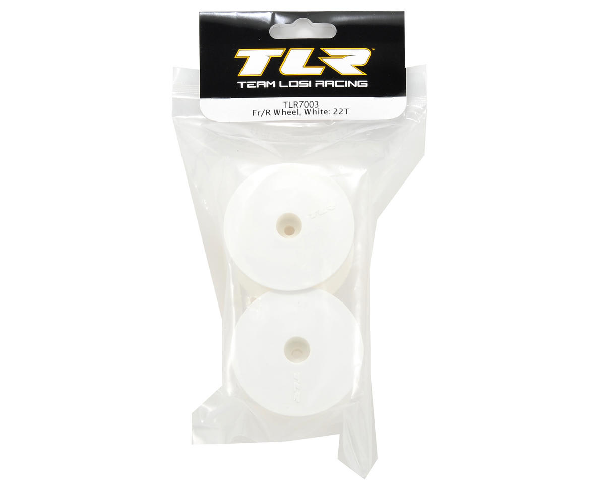 "12mm Hex 2.2"" 1/10 Stadium Truck Wheels (2) (TLR 22T) (White) by Team Losi Racing"