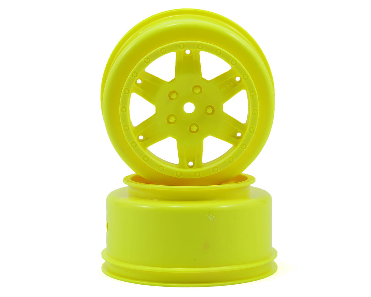 12mm Hex Short Course Wheels (Yellow) (2) (22SCT/TEN-SCTE) by Team Losi Racing