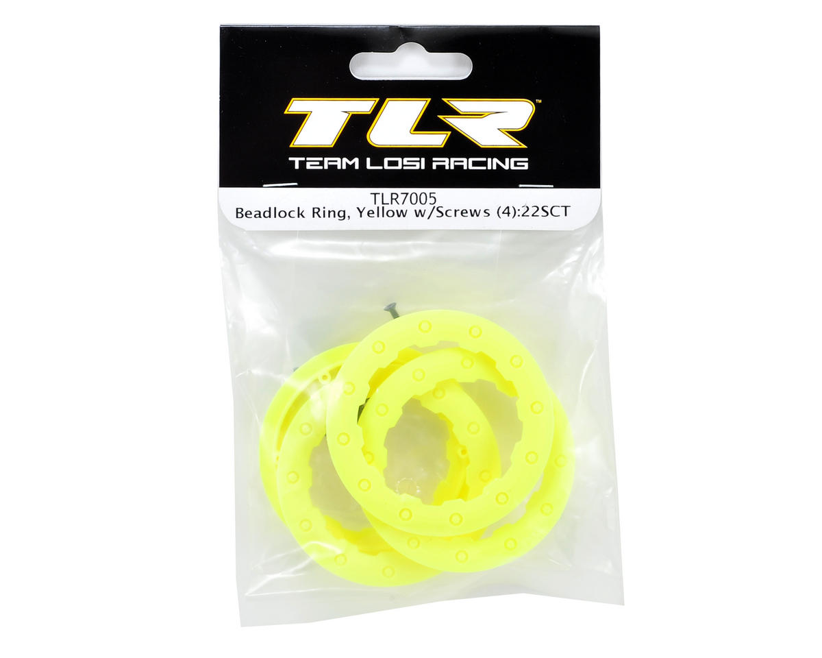 Team Losi Racing Beadlock Ring w/Screws (Yellow) (4)