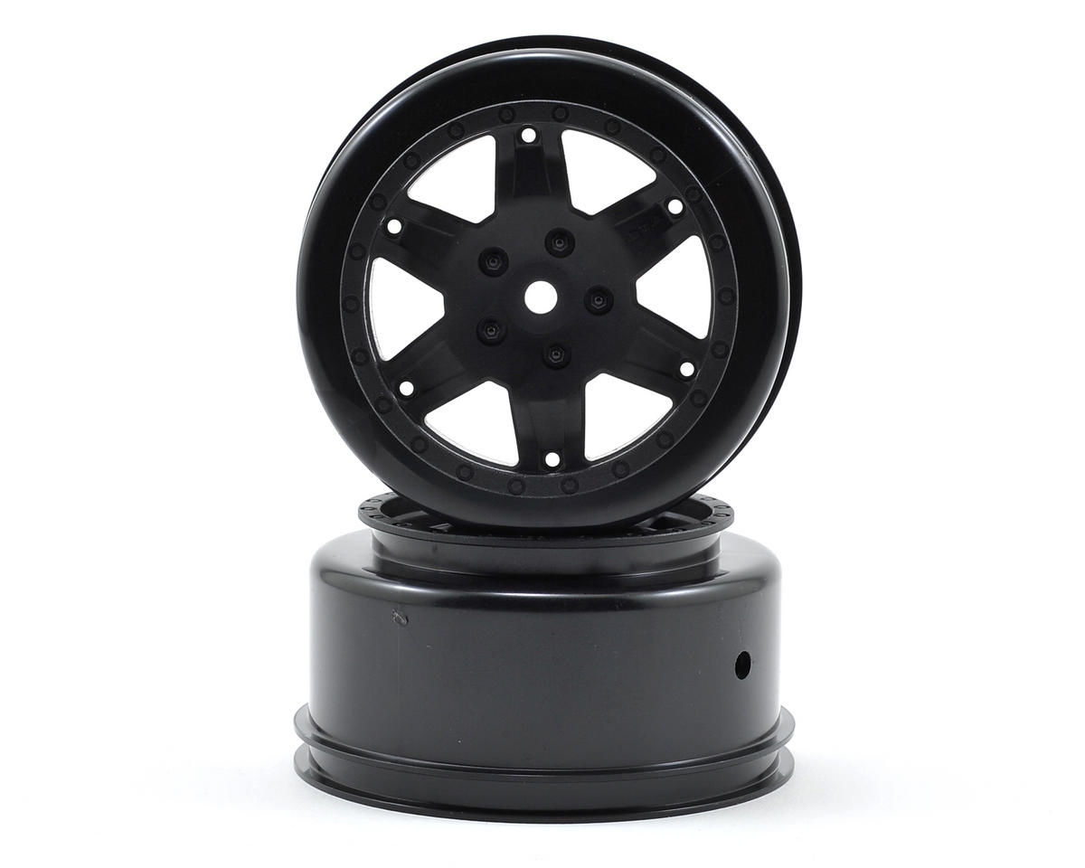 12mm Hex Short Course Wheels (Black) (2) (22SCT/TEN-SCTE) by Team Losi Racing