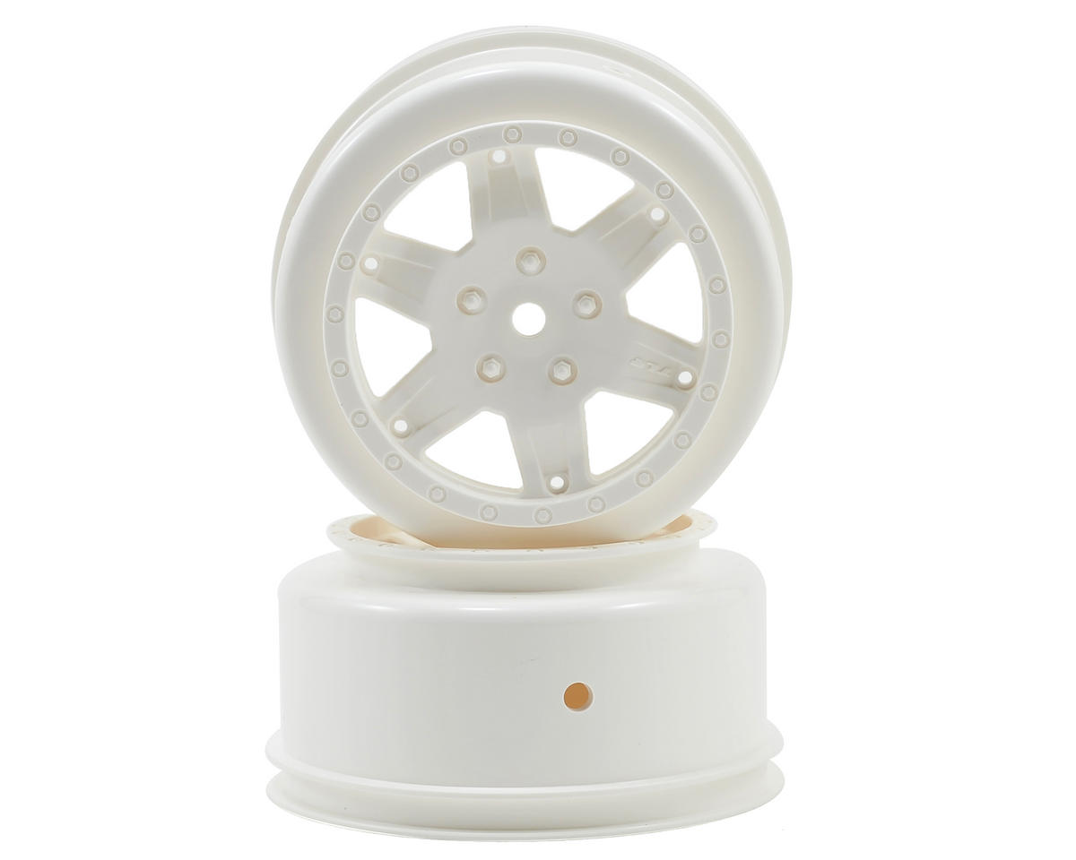 Team Losi TEN-SCT Nitro Racing 12mm Hex Short Course Wheels (White) (2) (22SCT/TEN-SCTE)