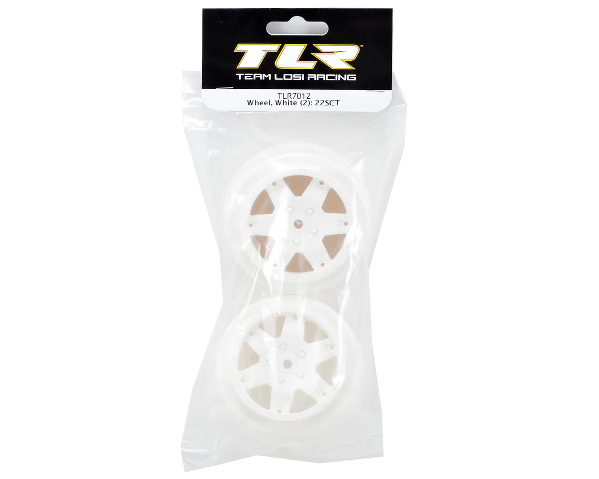 Team Losi Racing 12mm Hex Short Course Wheels (White) (2) (22SCT/TEN-SCTE)