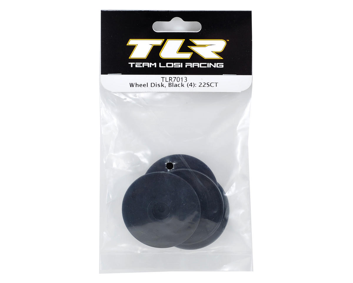Team Losi Racing Wheel Disk Set (Black) (4)