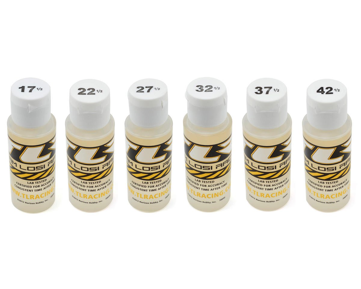 Team Losi Racing Silicone Shock Oil Six Pack (2oz)