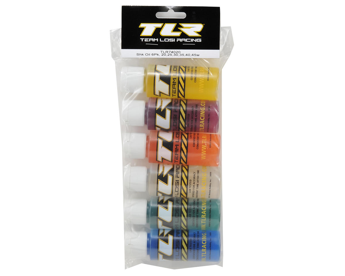 Team Losi Racing Silicone Shock Oil Six Pack (20, 25, 30, 35, 40, 45wt) (2oz)