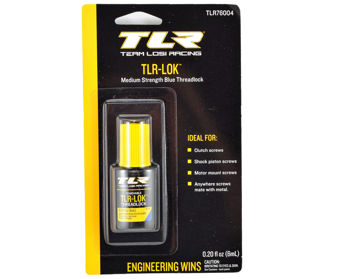 Team Losi TEN-T Racing TLR-LOK Threadlocker (Blue) (6mL)