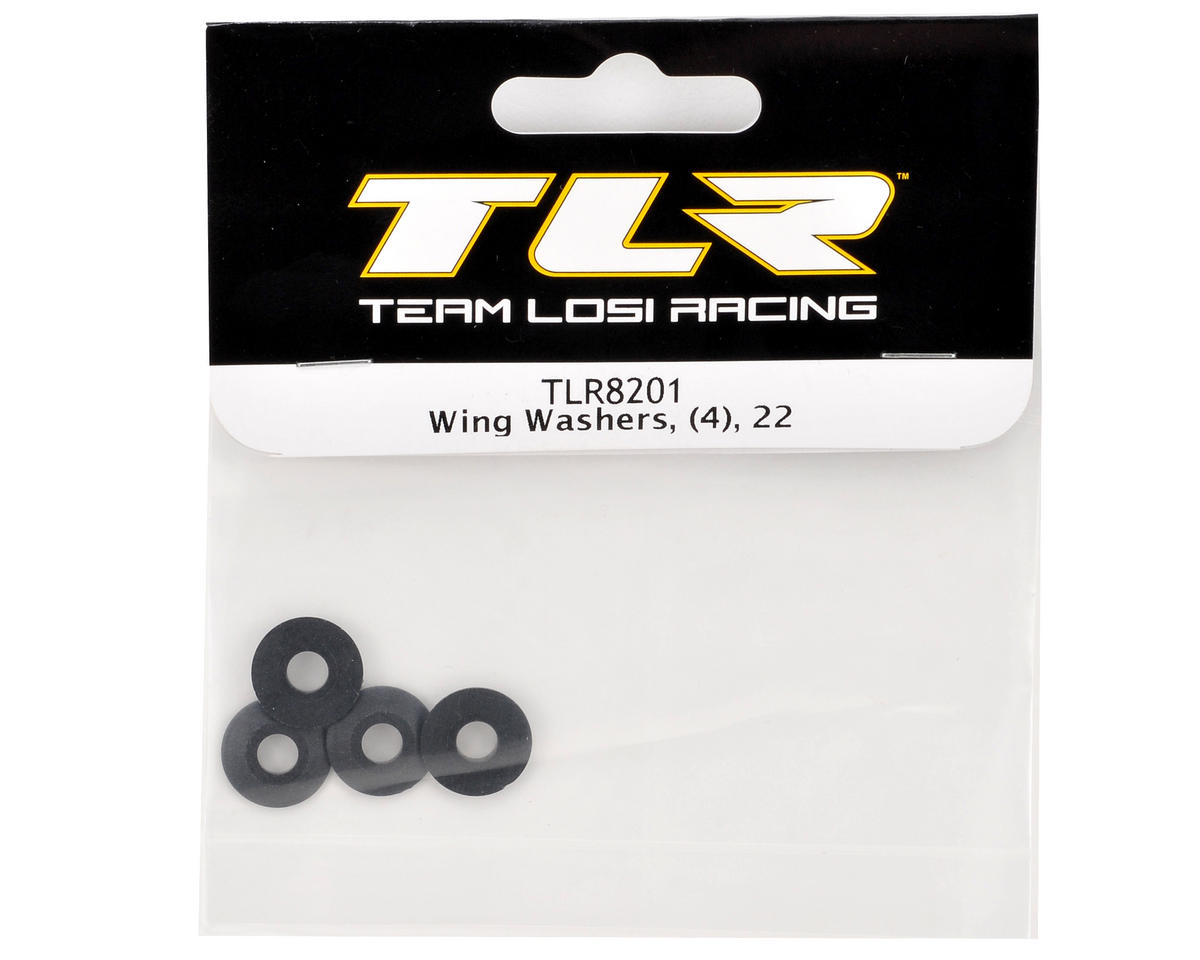 Team Losi Racing Wing Washers (4)