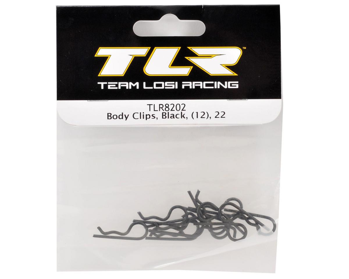 Team Losi Racing Body Clips (Black) (12)