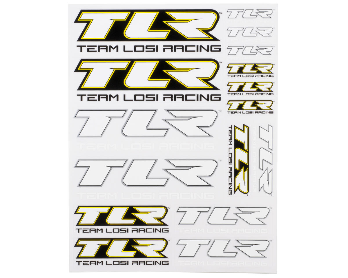 Team Losi 5IVE-T Racing TLR Sticker Sheet