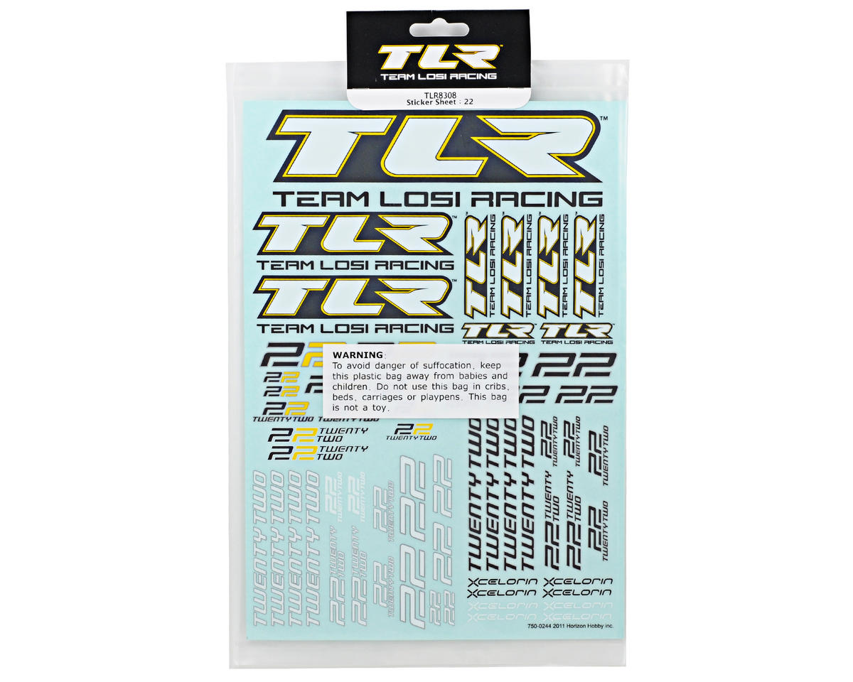 Team Losi Racing 22 Sticker Sheet