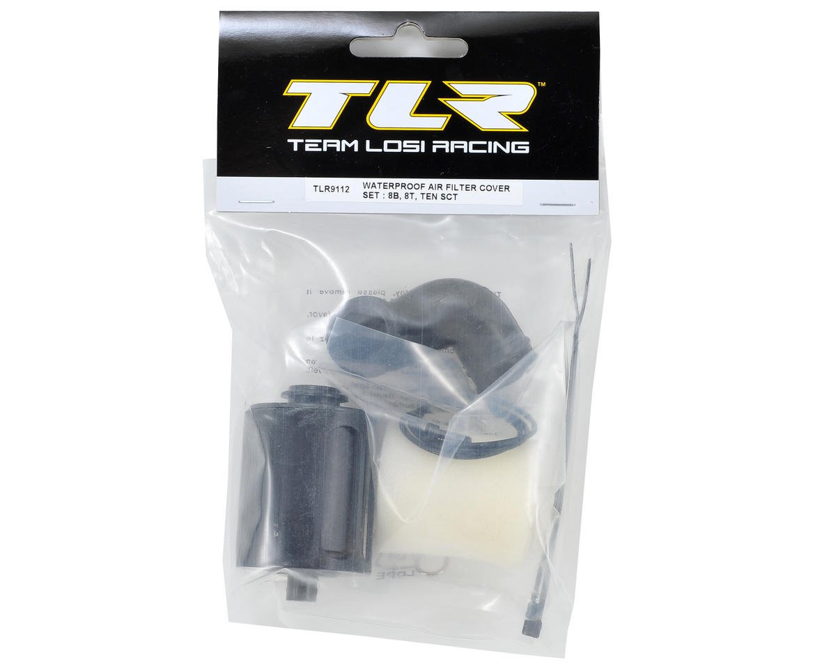 Team Losi Racing Waterproof Air Filter Cover Set (8B, 8T, TEN SCT)