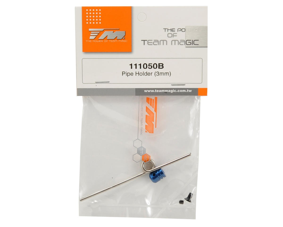 Team Magic 3mm Pipe Holder (Blue)