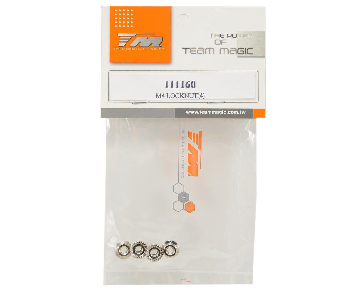 Team Magic 4mm Special Wheel Locknut Set (4)