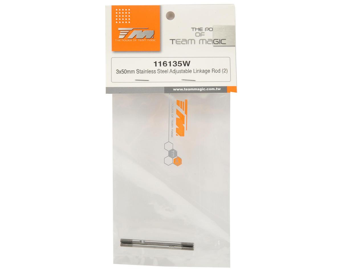 Team Magic 3x50mm Steel Adjustable Linkage Rod Set (2)