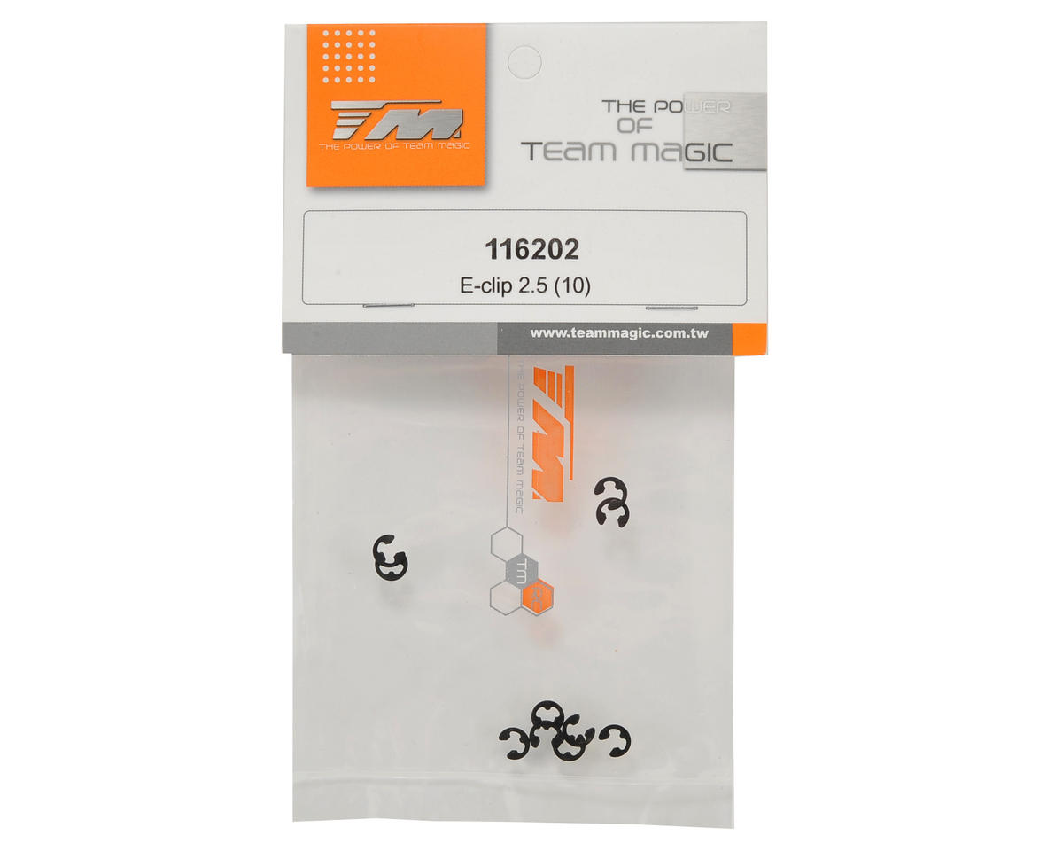 Team Magic 2.5mm E-Clip Set (10)