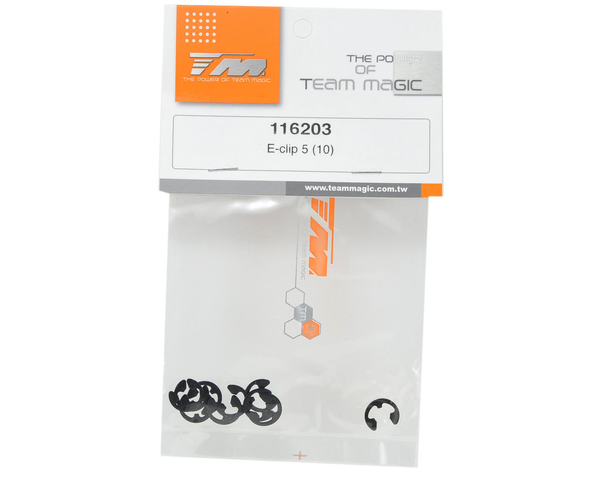 Team Magic 5.0mm E-clip Set (10)
