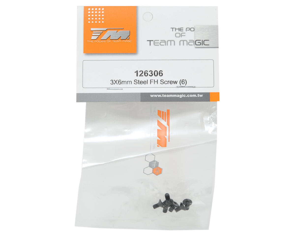 Team Magic 3x6mm Flat Head Screw (6)